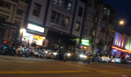 Motorcycles in San Francisco for 9/11 Memorial Ride
