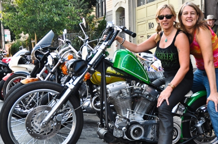 The bike I most wanted to own. Holly came up from Santa Cruz on 3 tiny tanks of gas.