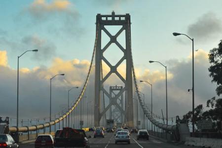 mesmerizingly lovely Bay Bridge