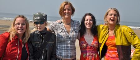 Jenny Lefferts, Goth Girl, Jennifer Bromme, Alex Elchinoff and me