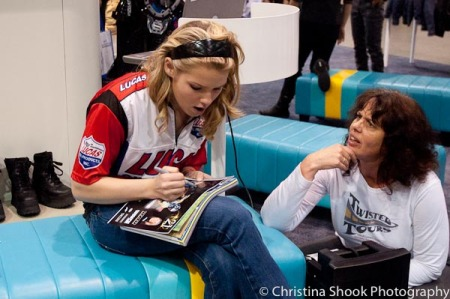 Elena Myers autographing